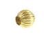14K Gold - 4mm Round Corrugated Bead