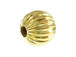 14K Gold - 6mm Round Corrugated Bead