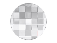 2  Crystal (Foiled) - 20mm Round 2035 Chessboard  Swarovski Glue On Flat Backs