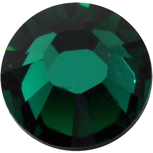 1440  Emerald - 2028 Swarovski SS12 Hotfix Flat Backs