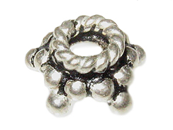 7.5mm 5-Point Star Bali Silver Bead Cap