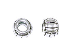 Sterling Silver Volleyball Large Hole Bead-6x8mm (3.75mm Hole)