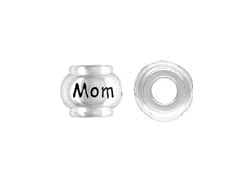 Sterling Silver MOM Large Hole Bead
