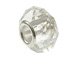 April Faceted Glass Birthstone Bead, with Plated Silver Core  - Crystal