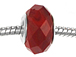Faceted Large Hole Glass Bead - Red