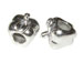 Sterling Silver Apple Large Hole Bead-7.5x10.25x8mm (3.9mm Hole)