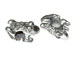 Sterling Silver Frog Large Hole Bead-6.75x12.75x6.5mm (3.75mm Hole)