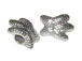 Sterling Silver Starfish Large Hole Bead-10x13x7.5mm (3.5mm Hole)