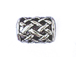 Sterling Silver Tapered Woven Large Hole Bead-12x8.75mm (5.75mm Hole)