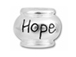 10mm Sterling Silver Hope bead with 4.5mm hole, Pandora Compatible
