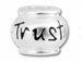 10mm Sterling Silver TRUST  bead with 4.5mm hole, Pandora Compatible