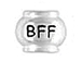 Sterling Silver BFF Large Hole Bead