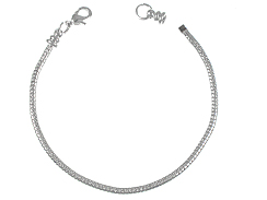 "20"" (51cm) <b>SILVER PLATED</b> snake Necklace with screw-on endcap In Bulk"