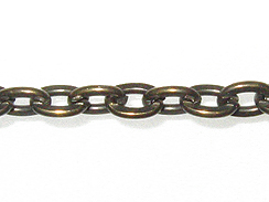 Steel Cable Chain: Antique Brass Finish