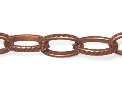 Oval Cable Chain: Copper Finish