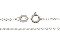 20-inch Sterling Silver 025 Cable Finished Chain