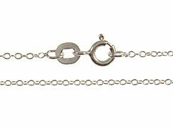 16-inch Rhodium Color Sterling Silver 025 Cable Finished Chain