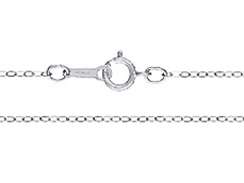 18-inch Sterling Silver 1.3mm Flat Cable Chain Necklace