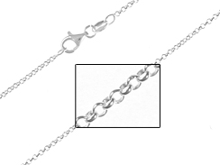 16-inch Sterling Silver 1.65mm Rolo Chain Necklace, Bulk Pack of 50
