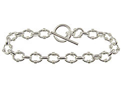 7-inch Sterling Silver Link Bracelet with Toggle Clasp
