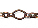 Diamond & Oval Link Chain: Antique Copper Finish