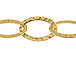 Fancy Hammered Oval Chain: Gold Plated - 25ft Spool