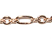 Oval Link 1+3 Chain: Rose Gold Plated