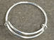 2.2  to 2.6 inch Expandable  Sterling Silver Ring, 18 Gauge Wire