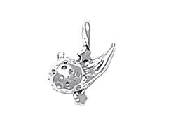 Sterling Silver Comet Charm
