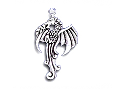 Sterling Silver Left Facing Dragon Charm