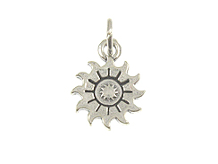 Sterling Silver Triple Sun Charm with Jumpring