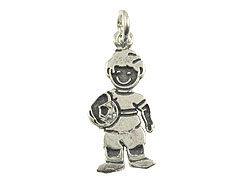 Sterling Silver Boy with Ball Charm