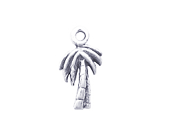 Sterling Silver Palm Tree Charm with Jump Ring