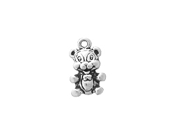 Sterling Silver Teddy Bear Charm with Jump Ring