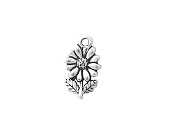 Sterling Silver Flower Charm with Jump Ring