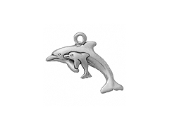 Sterling Silver Dolphin Family Charm with Jump Ring