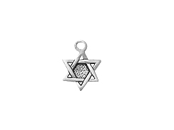 Sterling Silver Star of David Charm with Jump Ring
