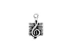 Sterling Silver Music Note - Clef