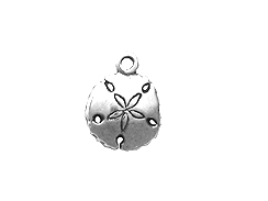Sterling Silver Sand Dollar Charm with Jump Ring
