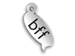 Sterling Silver BFF Text Chat Charm  with Jumpring