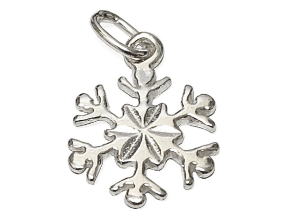 Snow Flake Sterling Silver Charm
