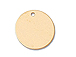 11mm Gold-Filled Round Disc Charm with Hole