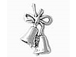Sterling Silver Wedding Bells Charm