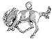 Sterling Silver Bucking Bronco Charm