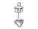 Sterling Silver Hand Shovel Charm