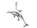 Sterling Silver Adult & Baby Dolphin Charm