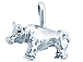 Sterling Silver Bull Charm