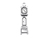 Sterling Silver Grandfather Clock Charm