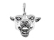 Sterling Silver Cougar Head Charm