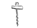 Sterling Silver Cork Screw Charm